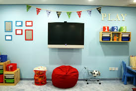 Fun Playroom Ideas For Kids With Innovative TV Education Ideas For