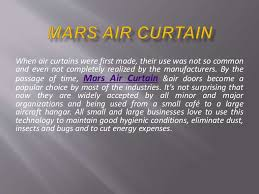 Berner Air Curtain Distributors by Advantages Of Air Curtains Use Of Air Curtains In Different Fields