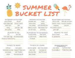 This Summer Bucket List Is Perfect For The Whole Family Access Your Free Printable