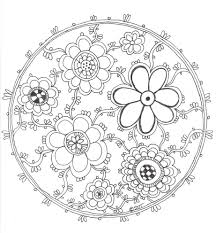 Coloring Pages Detailed Flower Pattern Arabic Floral Patterns Book Pdf Mandala Free To