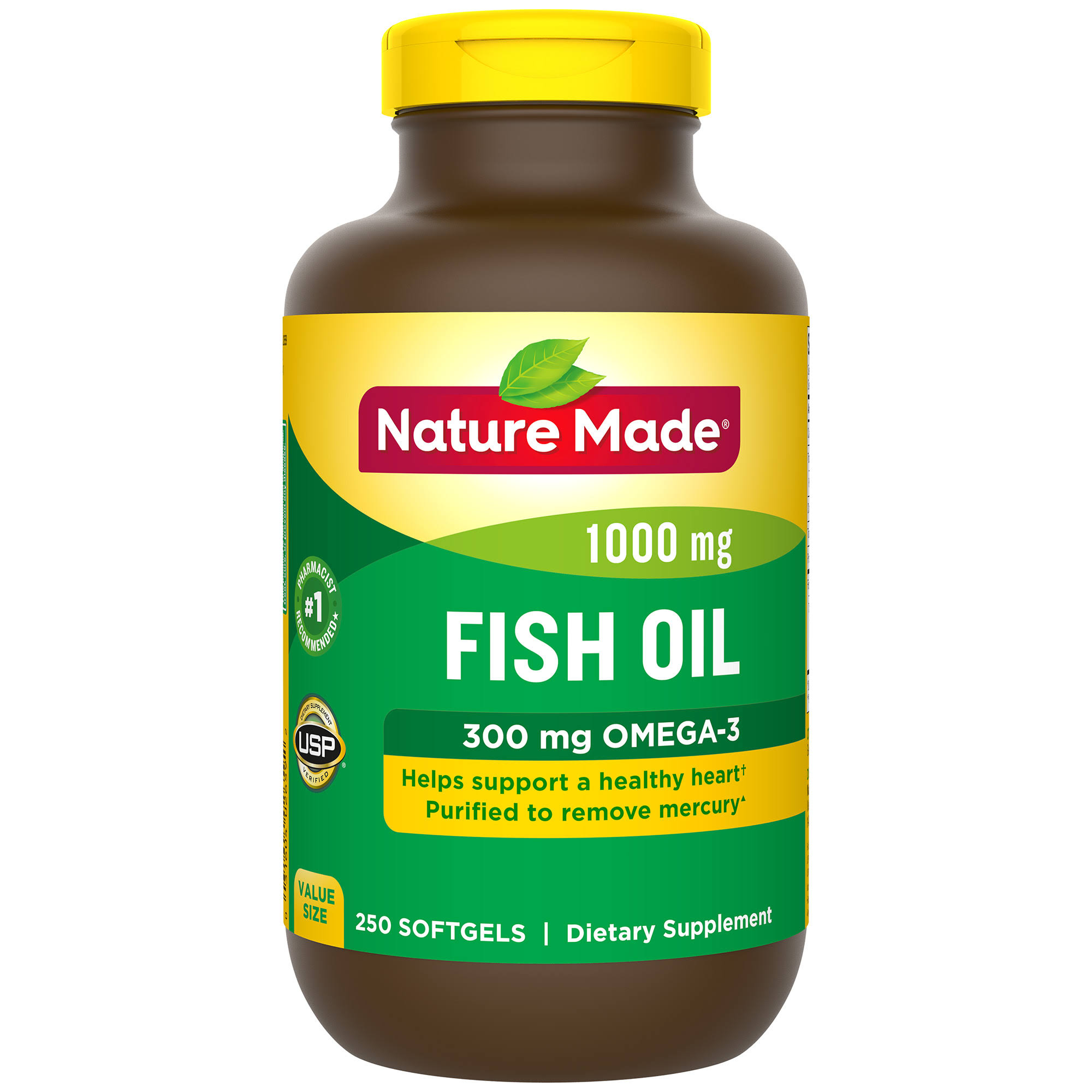 Nature Made Fish Oil Dietary Supplement - 1000mg, Value Size, Softgels, 250ct