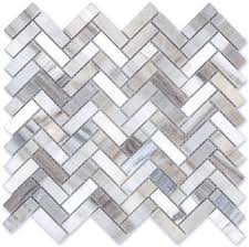 herringbone polished finish marble tile mosaic verona