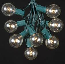 clear g40 globe outdoor string light set on black wire