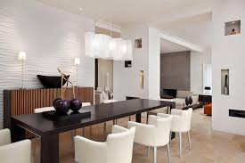 Modern Dining Room Light Fixtures With Black Rectangular Table And Unique Wall Decor Ideas For Latest Home Trends 2017