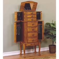 Powell Woodland Oak Esquire Jewelry Armoire | Hayneedle Morgan Jewelry Armoire Cherry Hives And Honey Linon Ruby Fivedrawer With Mirror Amazoncom Home Decor Kitchen Four Seasons Furningsamish Made Fniture Amish Made Best Wood Storage Material Design For Antique Finish Lingerie Powell Ebony This White Bedroom Armoires Antique Jewelry Armoire Abolishrmcom Tips Walmart
