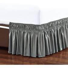 Split Corner Bed Skirt by Gray U0026 Silver Bed Skirts You U0027ll Love Wayfair
