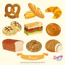 Bakery Bread Digital Vector Clip Art Picnic Clipart Design