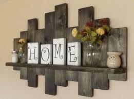 Rustic Offset Shelf Shelves Wooden Shabby Chic Decor Home