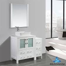 blossom 24 sydney single sink bathroom vanity with vessel white