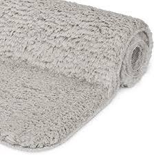 beautissu badematte rutschfest beaumare fl hochflor teppich 100x60 cm shaggy optik hell grau wc badteppich flauschige bodenmatte oder badvorleger