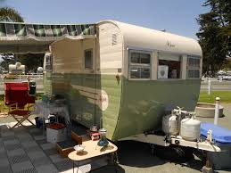 Beautifully Restored 1955 Aljoa Sportsman Travel Trailer Painted Green And Creme