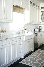 Shaker Cabinet Hardware Placement by Shaker Style White Kitchen Cabinets Full Size Of Oak Shaker