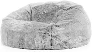 icon klassischer sitzsack aus kunstpelz kenai kunstfell groß sitzsäcke für das wohnzimmer schlafzimmer sitzsäcke für erwachsene