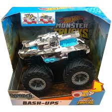 100 Hot Wheels Monster Truck Toys S 143 BashUps Collection Invader