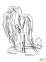 Click The Weeping Willow Tree Coloring Pages To View Printable Version Or Color It Online Compatible With IPad And Android Tablets