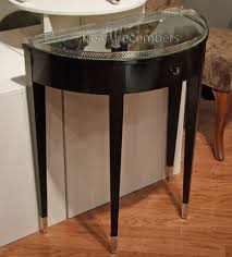 Narrow Sofa Table Australia by Furniture Intriguing Black Demilune Table With Glass Top