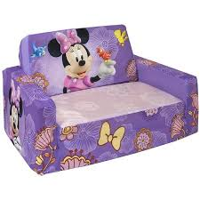 marshmallow flip open sofa with slumber disney s minnie mouse