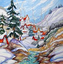 A Winter Village Author Drawing
