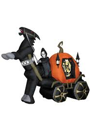 Halloween Blow Up Decorations by Inflatable Animated Reaper Carriage