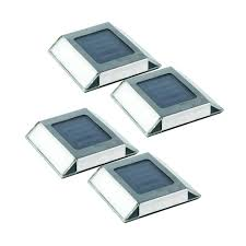 Solar Halloween Pathway Lights by Nature Power Stainless Steel Outdoor Solar Pathway Light 4 Pack