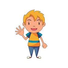 Hello clipart nice kid 7