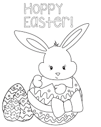 Easter Coloring Page Pages Hoppyeastercoloringpage