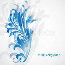 Vintage Blue Floral BackgroundVector Eps10