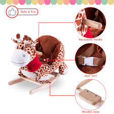 Rocking Horse For Baby On Clearance, 23'' X 14'' X 22'' Wooden Rocking  Chair Ride-on Toys W/Handle, Plush Ride-On Deer Rocking Chair, Gift For ... Amazoncom Kids Teddy Bear Wooden Rocking Chair Red Delta Children Cars Lightning Mcqueen Mmax 3 In 1 Korakids Red Portable Toddler Rocker For New Personalized Tractor Childrens Pied Piper Toddler Great Little Trading Co Fisher Price Baby Chair Horse Baby On Clearance 23 X 14 22 Rideon Toys Whandle Plush Rideon Deer Gift Little Cute Haired Boy Sits Astride A Rocking Horse Pads Cushions Chairs Carousel Adirondack Starla Child Cotton