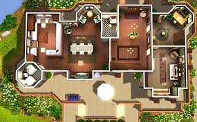 Sims 3 Big House Floor Plans by The Sims 3 Mansion Floor Plans