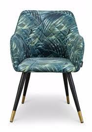 4 esszimmer design stühle türkis petrol samt palme wie neu