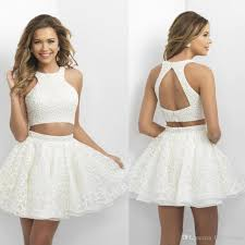cheap cheap two pieces short homecoming dresses 2016 beaded top