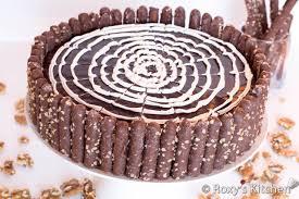 Chocolate Cake with Walnuts Birthday Cake