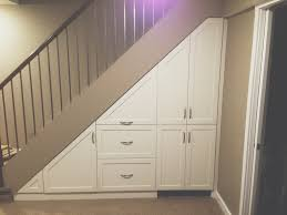 Best Under Stairs Closet Storage Ideas Andrea Outloud Also ... Ideas Attractive Deck Stairs Plus Iron Handrails For How To Build Kerala Home Design And Floor Planslike The Stained Glass Look On Living Room Stair Wall Design Hallway Pictures Staircase With Home Glossy Screen Glass Feat Dark Different Types Of Architecture Small Making Safe Wooden Stairs Steel Railing Interior Ideas Custom For Small Spaces By Smithworksdesign Etsy 10 Best Entryways Images Pinterest At Best Solution Teak