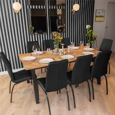 selsey esstisch brighton küchentisch rechteckig mit 2 ansteckplatten schwarz eichefarben mit fischgrätenmuster 220 x 95 cm