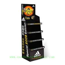 Promotional Cardboard 4 Tiers Display Rack For