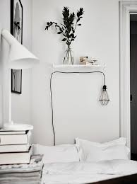 white and simple bedroom haus Pinterest