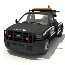 NYPD Tow Truck 3D Model In SUV 3DExport