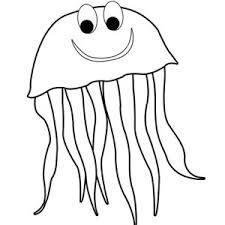 Mr Jellyfish Coloring Page