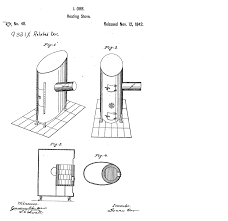 Isaac Orrs Air Tight Heating Stove 1842 Patent Drawing