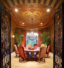 Los Angeles Iron Gate With Traditional Curtains And Drapes Dining Room Curtain Panels Upholstered Chairs