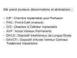 chambre implantable pour perfusion la chambre implantable mercredi 23 avril ppt télécharger