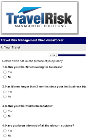 Business Travel Checklist For Health Safety And Security Management