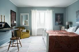 hellblaue wände im schlafzimmer mit bild kaufen