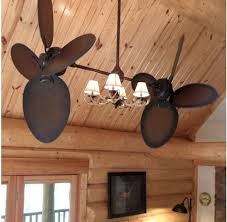 Rustic Twin Ceiling Fans With Lights