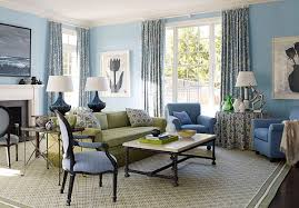 The Combination Of Blue And White Or Grey Is Also Very Chic A More Traditional Living Room 20 Design Ideas
