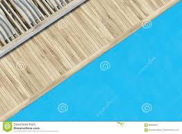 Top View Of A Swimming Pool With Wood Stock Illustration