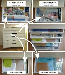 Desk Drawer Organizer Ikea by Claire Sew Incidentally Adapted A Standard Ikea Alex Drawer Unit