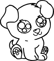 Cute Puppy Free Images Dog Coloring Page