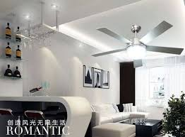 Modern Ceiling Fan Light Minimalist Living Room Dining With 48 Inch Wood Leaf Lamp In Fans From Lights Lighting On