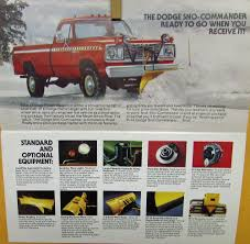 100 Meyers Truck Sales 1977 Dodge W150 200 AW100 Ramcharger Sno Commander Meyer Plow